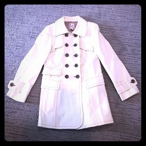 Ivory patent trench coat by Nanette Lepore